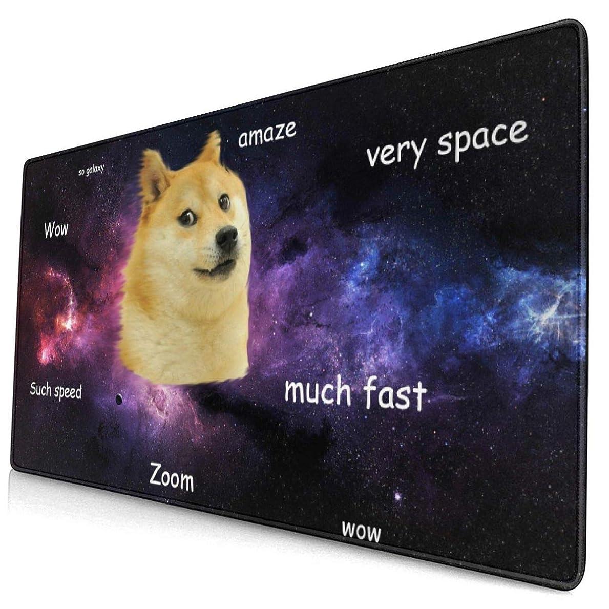 検出可能可決粘性のLOTIN-J マウスパッド柴犬 デスクマット 大型おしゃれ 滑り止め ゲーム用 40*75cm