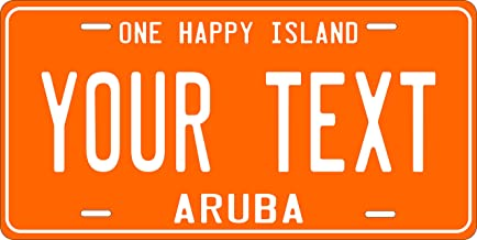 PhotoZoneGa Aruba Orange Personalized Custom Novelty Tag Vehicle Car Auto Motorcycle Moped Bike Bicycle License Plate