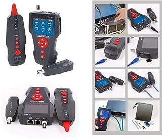 Kalea Informatique–Medidor profesional para red RJ45RJ11USB BNC: Teste la longitud/cartografía/polaridad/test del Poe/test ping/grabación y Export des Tests possibles/Batteries Lithium recargables
