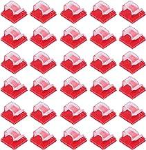 VILLCASE 100 stuks zelfklevende mini-kabelclips voor buiten, van kunststof, voor kabelmanagement-clips, voor kantoor, thui...