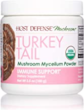 Host Defense, Turkey Tail Mushroom Powder, Supports Immune Health, Certified Organic Supplement, 3.5 oz (66 Servings)