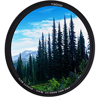 UV 67mm 1A Multicoated for Canon EOS Rebel T1i Multithreaded Glass Filter Haze