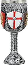 """Best Ebros Medieval English Heraldry Coat Of Arms Wine Goblet 7""""H 5oz Sturdy Wine Chalice Review"""