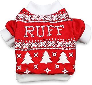DroolingDog Pet Dog Christmas Shirt Dog T-Shirt Xmas Dog Shirts Christmas for Small Dogs, Medium