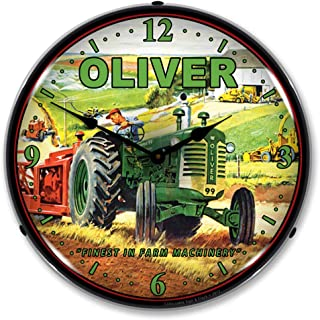 Oliver Tractor Lighted Clock
