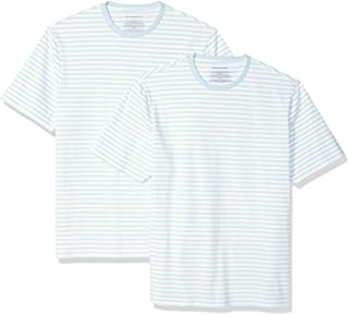 Amazon Essentials Men's Regular-fit Short-Sleeve Stripe Crewneck T-Shirts