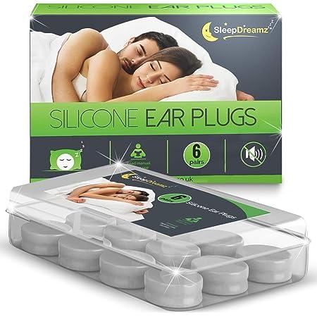8 Silicone Bouchons D/'oreille Pour Sommeil Ronfler relief /& Protection contre le bruit