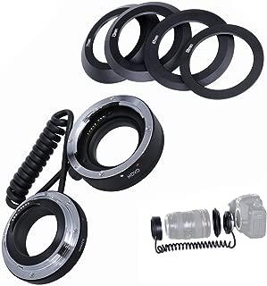 Movo Photo AF Reverse Mount Macro Lens Converter for Canon EOS 80D, 77D, 70D, 60D, 50D, 7D, 7D Mark II, 6D, 5DS, 5D, 5D Mark IV, 1D, Digital Rebel SL1, T7i, T6s, T6i, T5i, T5, T4i & T3i DSLR Cameras