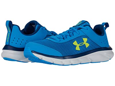 Under Armour Kids UA Assert 8 (Big Kid) (Electric Blue/Halo Gray/Yellow Ray) Boys Shoes