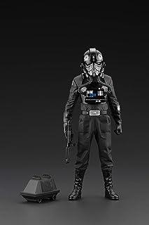 Amazon Exclusive Star Wars A New Hope: Tie Fighter Pilot Backstabber & Mouse Droid PVC Statue, Multicolor