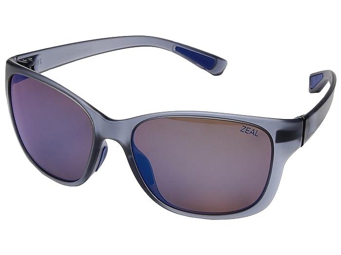 Zeal Optics  Magnolia (Matte Smoke with Polarized Horizon Blue Lens) Athletic Performance Sport Sunglasses