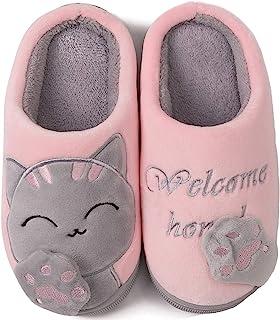 ChayChax Zapatillas de Estar por Casa Lindo Animados para Niños Mujer Hombre Invierno Pelusa Forro Pantuflas Interior de M...