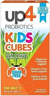 up4 Kids Cubes 益生菌补充剂| 维生素D | 10亿CFU | 无糖,无防腐剂,无人造香料| 40粒+美味香草味道 入口即溶