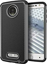 Moto Z Droid Case, Cimo [Shockproof] Heavy Duty Shock Absorbing Protection Cover for Motorola Moto Z Droid (2016) - Gray
