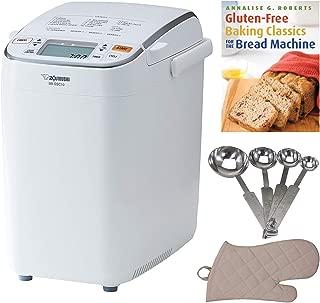 Zojirushi BB-SSC10 Home Bakery Maestro Breadmaker, Premium White Includes Bread Making Book, Measuring Spoon Set and Oven Mitt