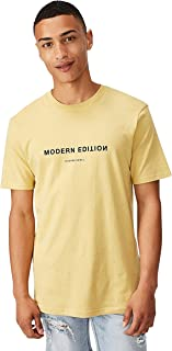Cotton On Men's Graphic T-shirt, Frosted Honey/Modern Edition Flipped