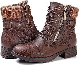 چکمه های رزمی زنانه STQ کفش های مچ پا بند دار