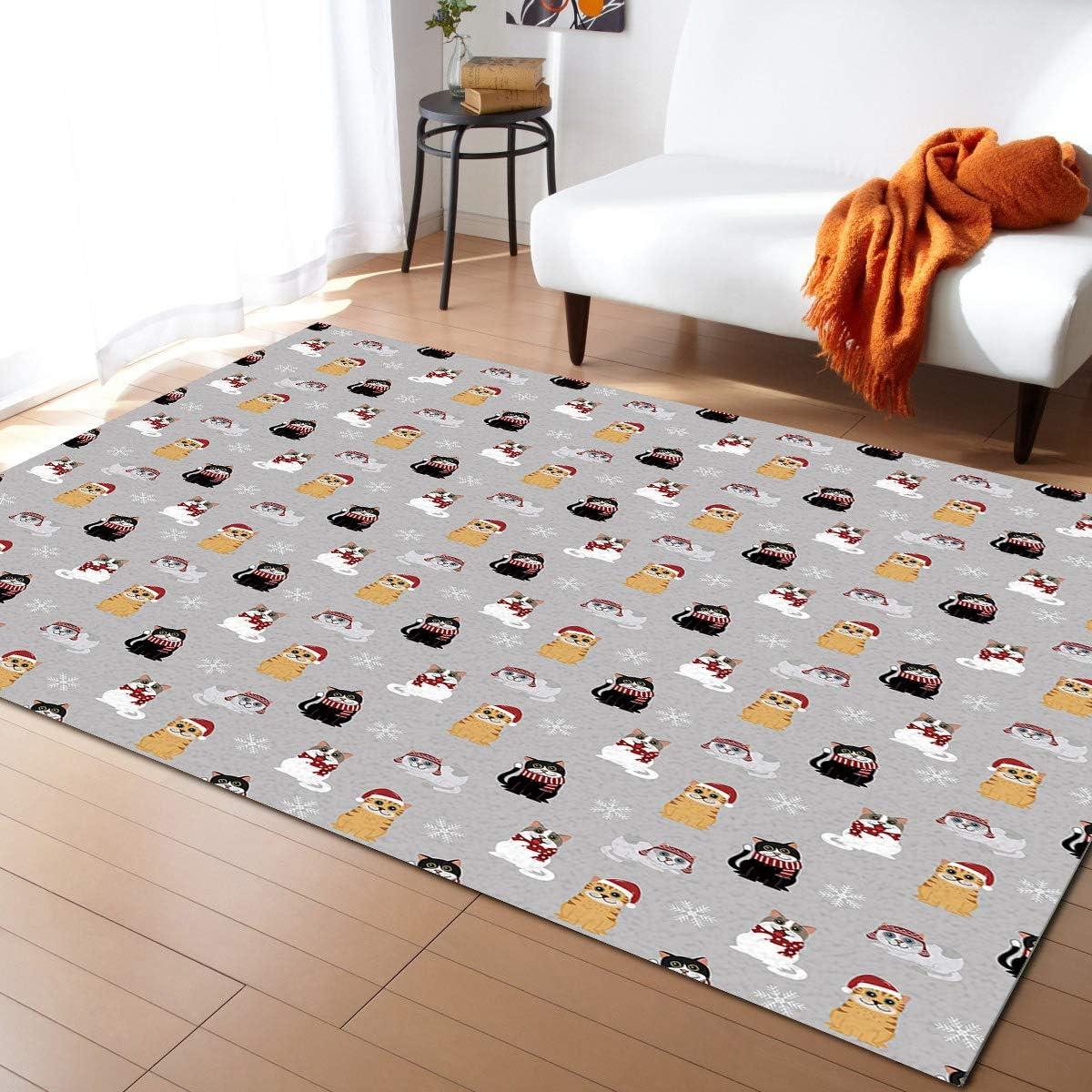 ARTSHOWING Max 64% OFF Merry Luxury goods Christmas Area Non-Slip Decorative Carpets Rug