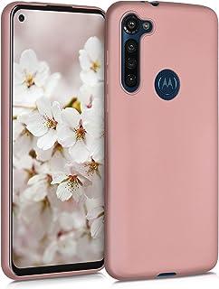 kwmobile telefoonhoesje compatibel met Motorola Moto G8 Power - Hoesje voor smartphone - Back cover in metallic roségoud