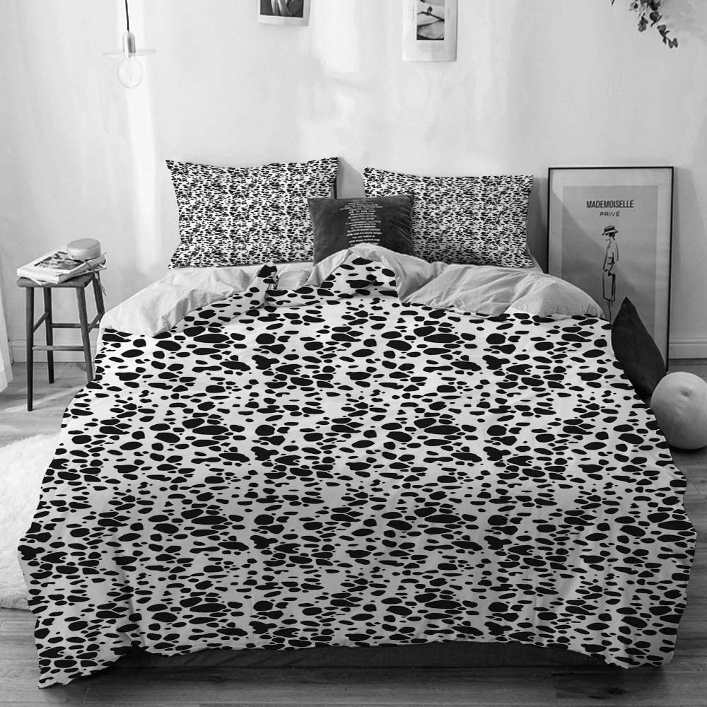 5 popular BGNHG Decorative Kansas City Mall Duvet Cover Sets Bed Dog Beige Dalmatian Sheets