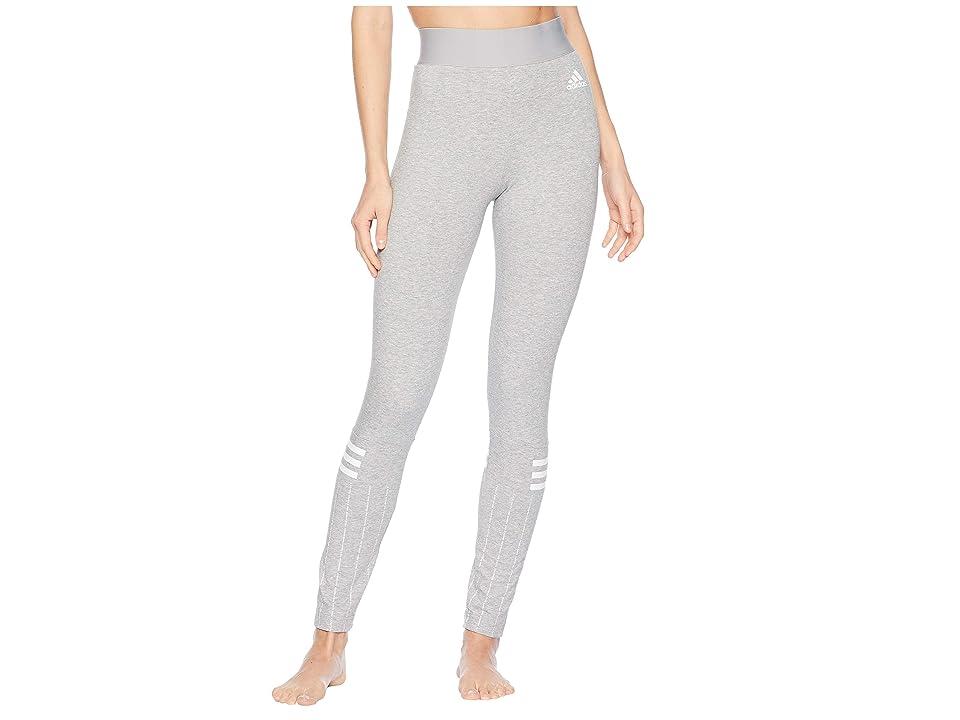 adidas Sport ID Printed Tights (Medium Grey Heather/White) Women