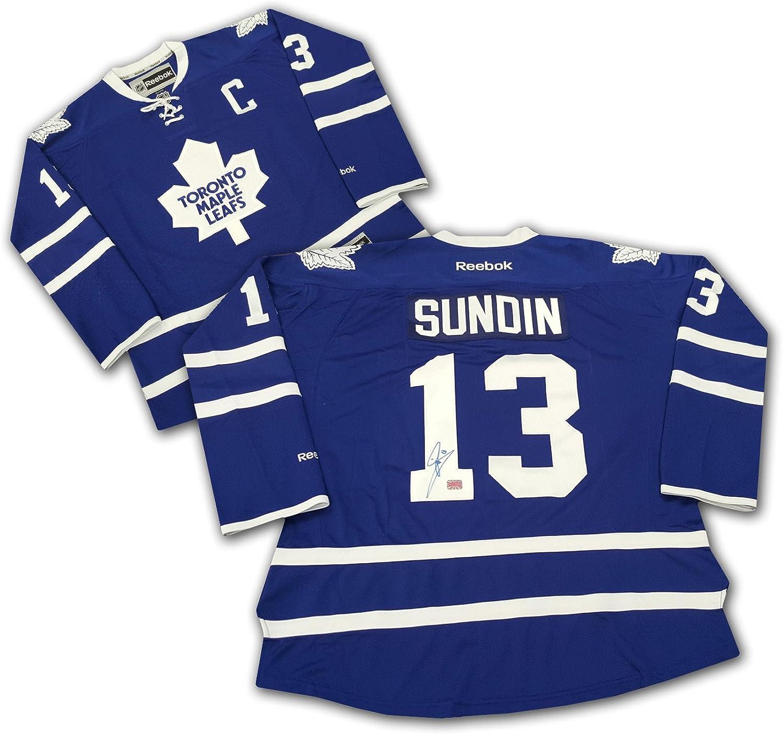 Mats Sundin Autographed blueee Tgoldnto Maple Leafs Jersey