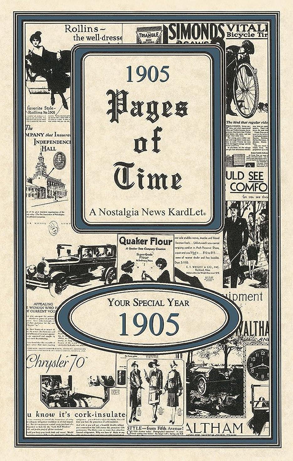 1905 Pages of Time KardLet (PT1905)