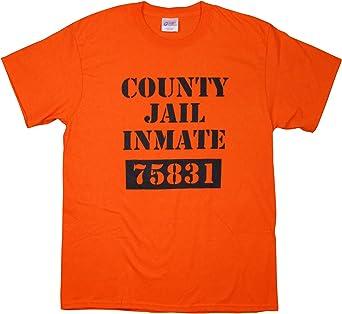 County Jail Prison Inmate Tshirt Orange