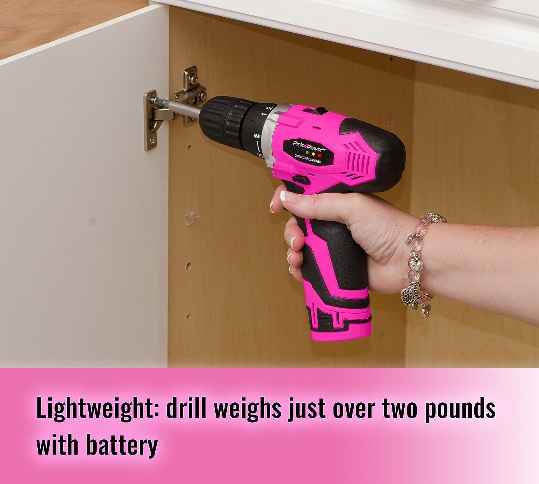 Pink Power PP121LI Cordless Power Drill for Women