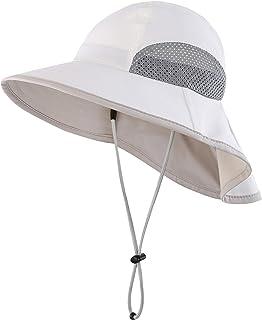 a4cfc1a2d7c Connectyle Kids Wide Brim Neck Flap Sun Protection Hat Mesh Vent Bucket Sun  Hat