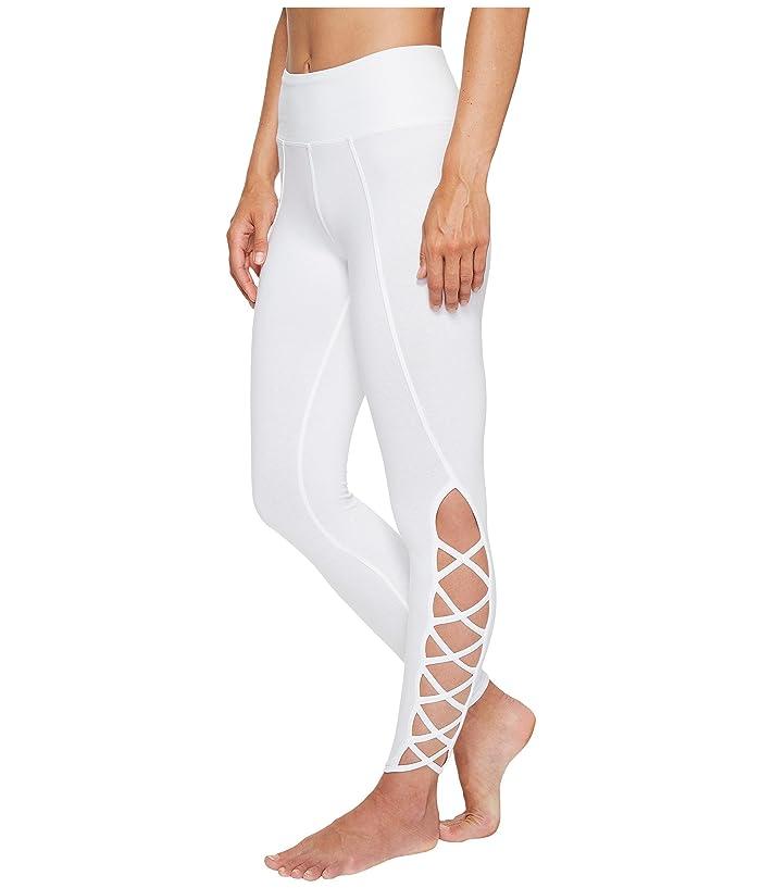 Hard Tail X-Side Ankle Leggings (White) Women