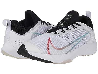 Nike Kids Air Zoom Speed (Big Kid) (White/Flash Crimson/Hyper Jade/Black) Kid