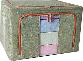 LANHA Boîte de Rangement avec Couvercle, 600D étanche Oxford Armoire en Tissu boîte de Rangement Panier de Rangement Pliab...