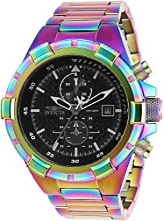 Invicta Men's Aviator 50mm Multicolor Steel Bracelet & Case Quartz Watch 28135