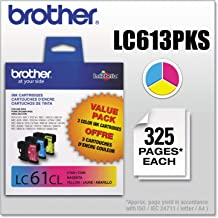 Brother LC613PKS LC61CL 3-Pack Ink Cartridge, 325 Page-Yield, Cyan Magenta Yellow