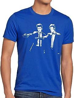 style3 Timelord Fiction T-Shirt Herren zeitreise Serie Polizei notrufzelle Tarantino Pulp