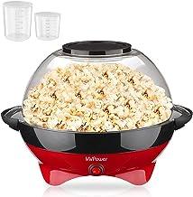 MVPower Machine à Popcorn 800W, Bol 5 L et Couvercle 2-en-1 Détachable, Revêtement Anti-adhésif avec Coupe à Mesurer