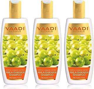 Vaadi Herbals Hair fall and Damage Control Amla Shikakai Shampoo, 350ml (Pack of 3)
