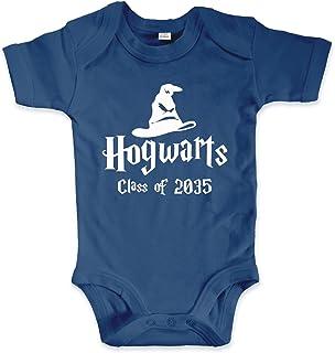 net-shirts Organic Baby Body mit Hogwarts Class of 2035 Aufdruck Spruch lustig Strampler Babybekleidung aus Bio-Baumwolle mit Zertifikat Inspired by Harry Potter