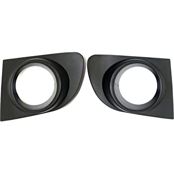 DAT AUTO PARTS Fog LAMP Hole Cover Set of Two Replacement for 13-15 Nissan SENTRA Black Left Driver Right Passenger Side Pair NI1038126 NI1039126