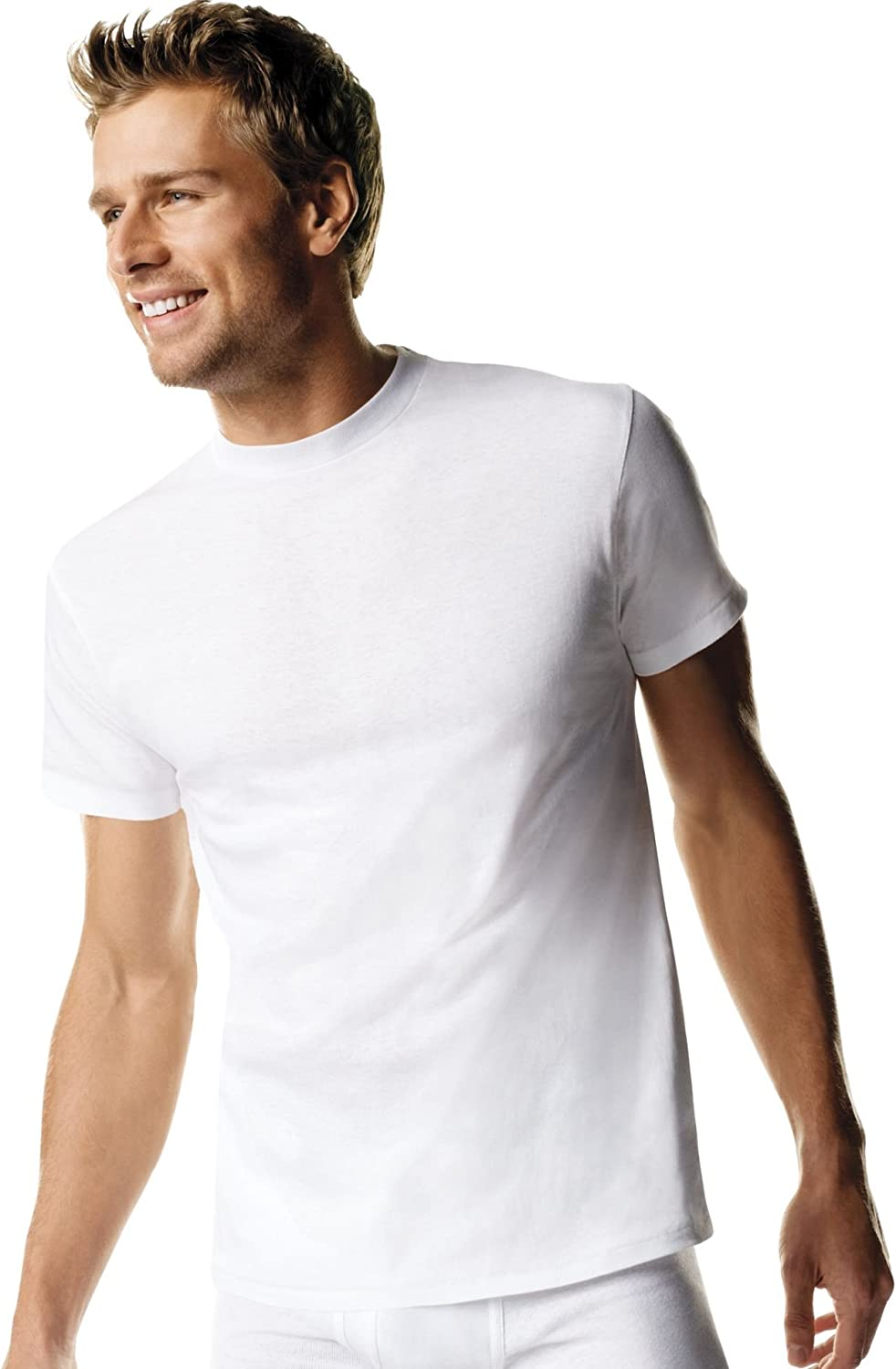 Hanes Men's Big Crew Undershirt Tall 3-Pack 114hnt White Large❗️Ships Directly from
