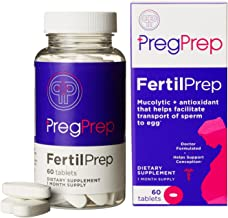 PregPrep FertilPrep: Fertility + Preconception Supplements for Women to Conceive, 60 Tablets