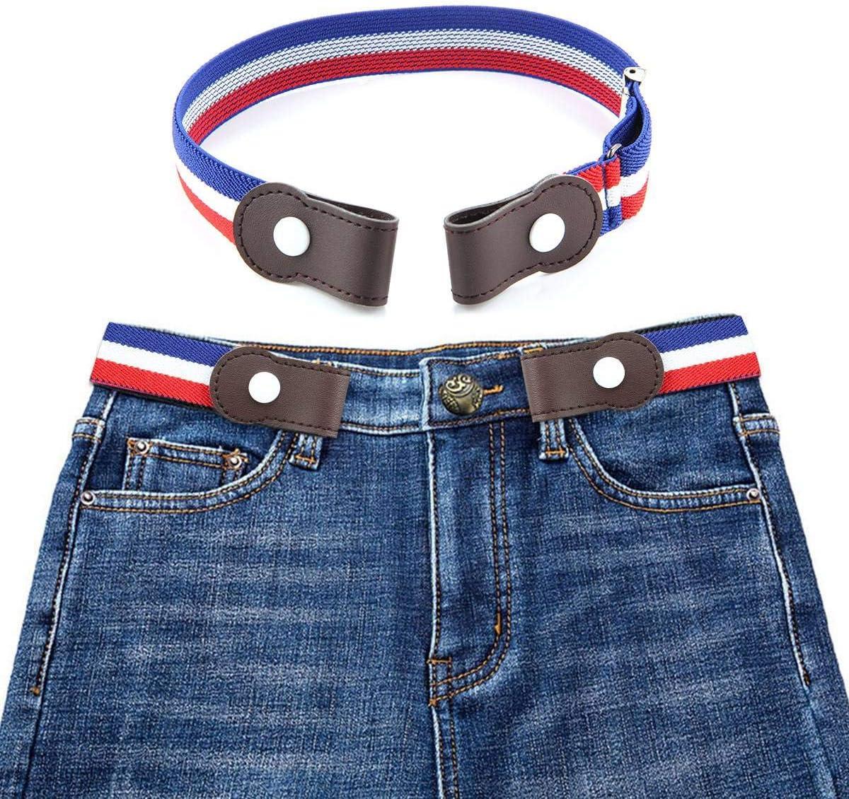 Efuture cinturón Mujer elástico sin Hebilla–cinturón elástico Invisible, Salud para el cinturón elástico sin Hebilla para Mujeres Hombres niños (Ajustable de 40Pulgadas), Enfants -F