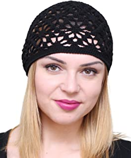 Cotton Hats for Women Ladies Summer Beanie Lace Cloche Hair Accessories Cap
