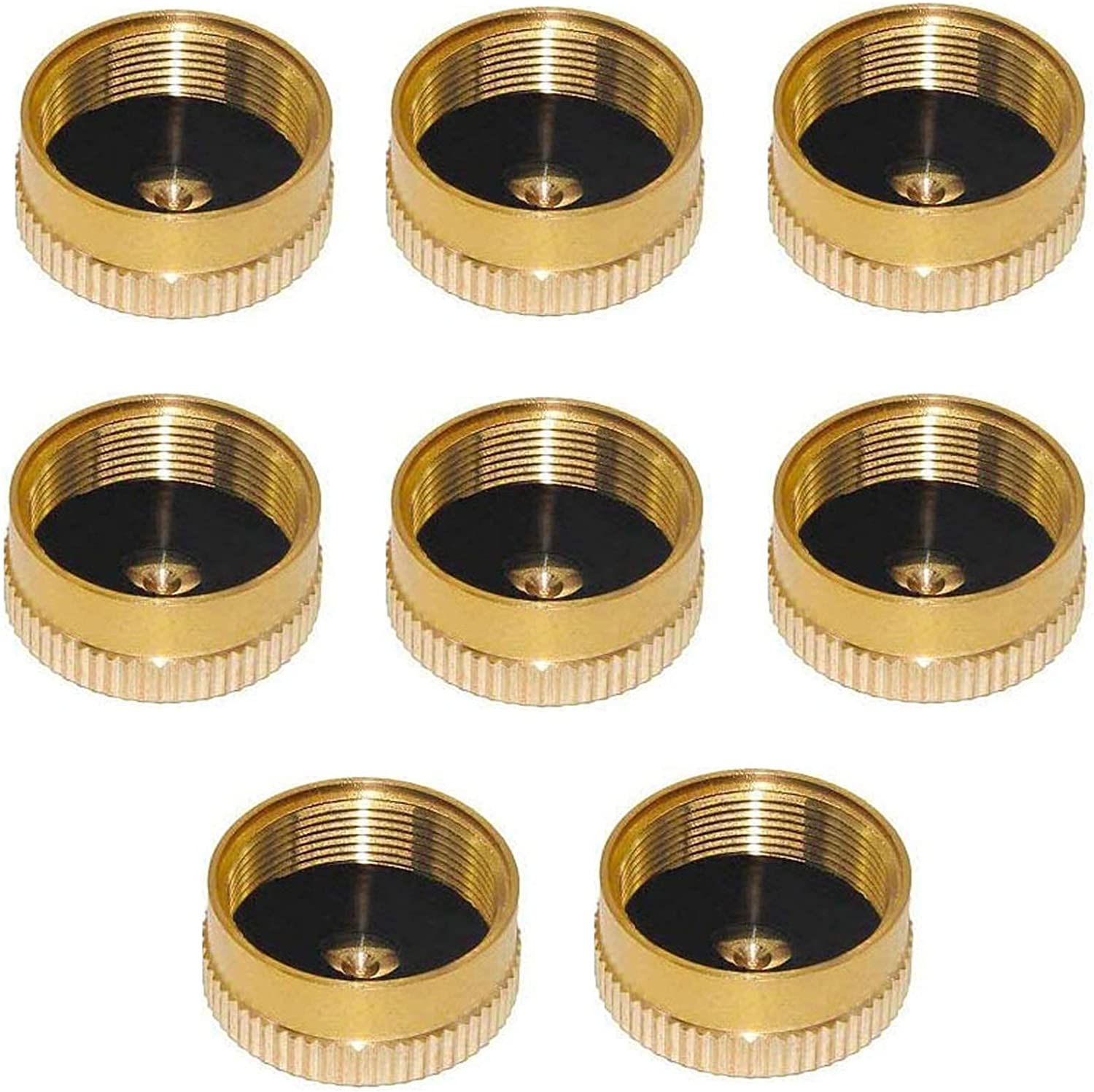 4 Packs Propane Bottle Cap with Brass Construction Propane Cap to Prevent Gas Leaking FengJIN HZFJ 4PCS Solid Brass Refill 1lb Oxygen//Propane Tank Cap for Outdoor Camping Stove Cooking