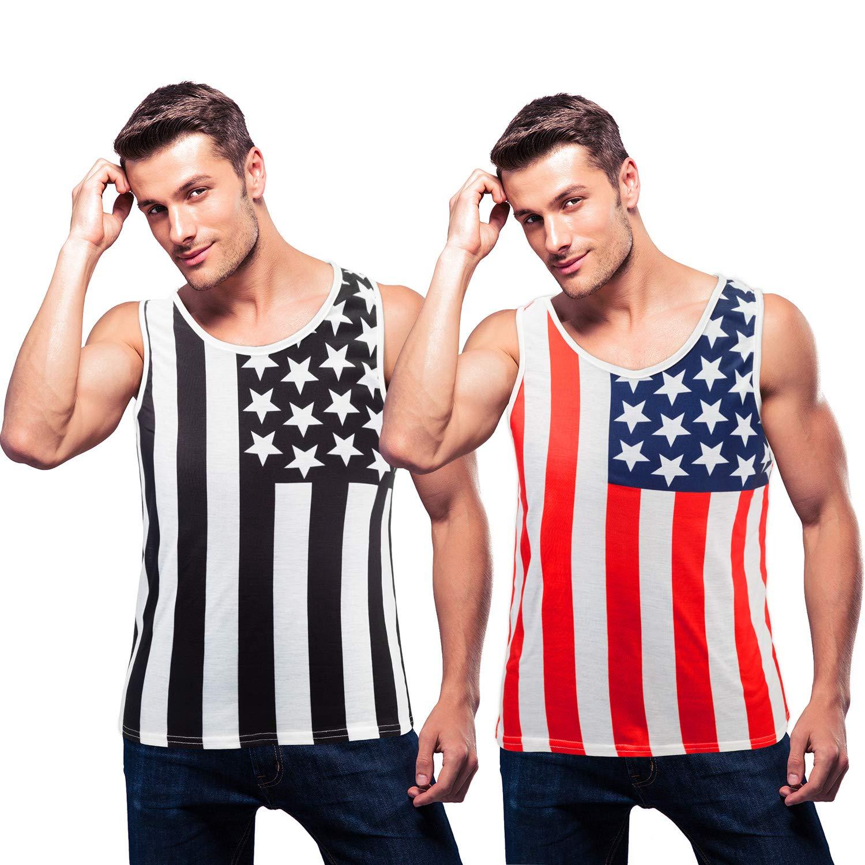 Norme Camiseta de Tirantes con la Bandera Americana de 2 Piezas para Hombre Camiseta sin Mangas Patriótica del 4 de Julio Chaleco Patriótico Accesorio para Hombres (XXL): Amazon.es: Deportes y aire libre
