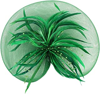 IPOTCH Women 1920s Feather Fascinator Derby Aliceband Clip Headpiece Bride Headwear