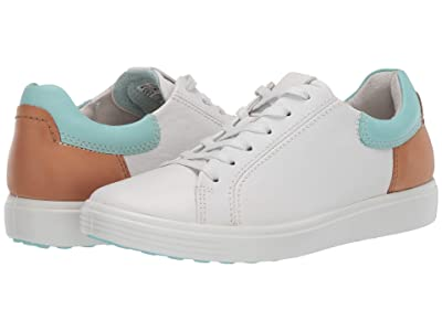ECCO Soft 7 Street Sneaker (White/Eggshell Blue/Lion Cow Leather/Cow Leather/Cow Nubuck) Women