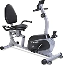 Maxkare Magnetic Recumbent Exercise Bike Indoor Stationary Bike with Adjustable Cushion Seat and Resistance,Pluse Monitor,...