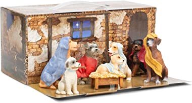Canine Creche Dog Nativity Scene Decoration, 7 Piece Set